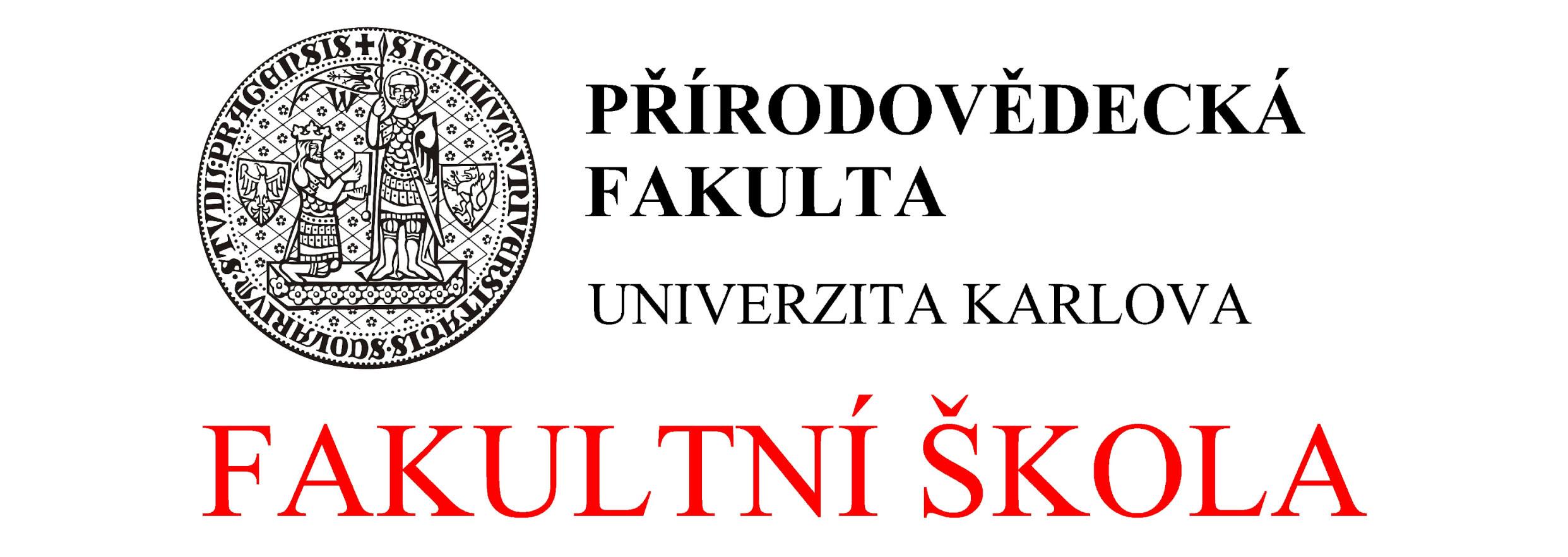 Logo fakultní škola PřF UK