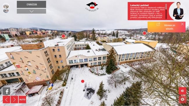 Virtuální prohlídka Gymnázia Cheb